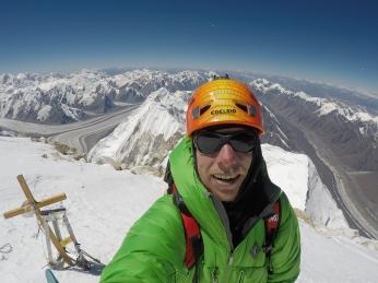 On the summit of Khan Tengri