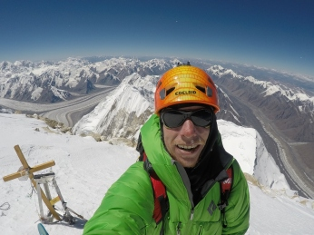 On the summit of Khan Tengri