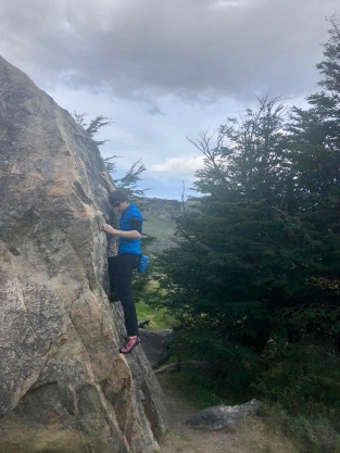 Bad weather, good boulders