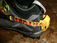 The 'real deal' heel welt readily takes a C2 crampon