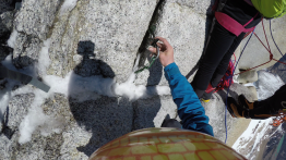 Placing a .75 in Patagonian granite
