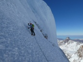 Climbing above Col Esperanza