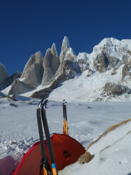 Base camp in Circo de los Altares