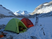 Camp on the Marconi glacier