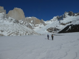Skiing up the Marconi glacier
