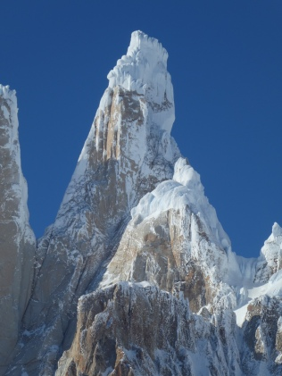 The upper west face of Cerro Torre