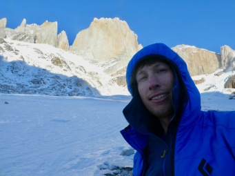 Getting cold as the sun sets on theMarconi Glacier